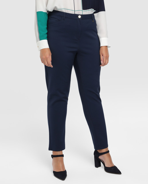 Todo sobre los pantalones plus size - pantalon azul marino tallas grandes
