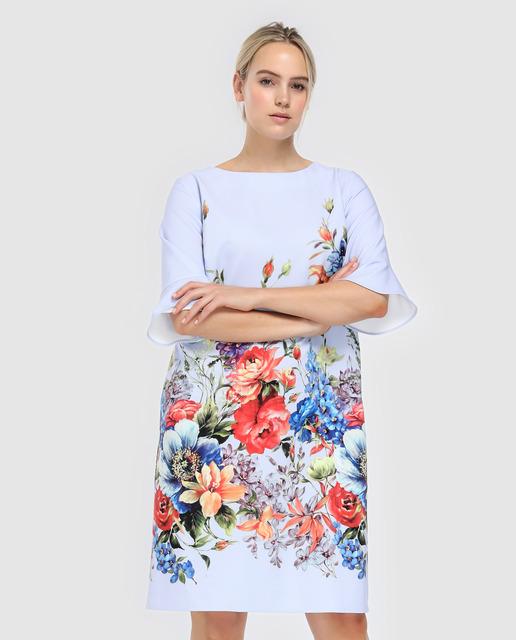 Vestidos tallas grandes- vestido flores blanco