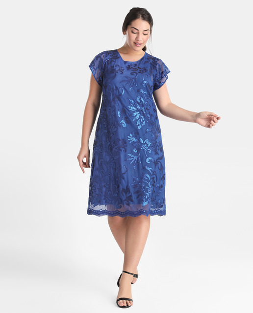 Vestidos tallas grandes - vestido fiesta azul