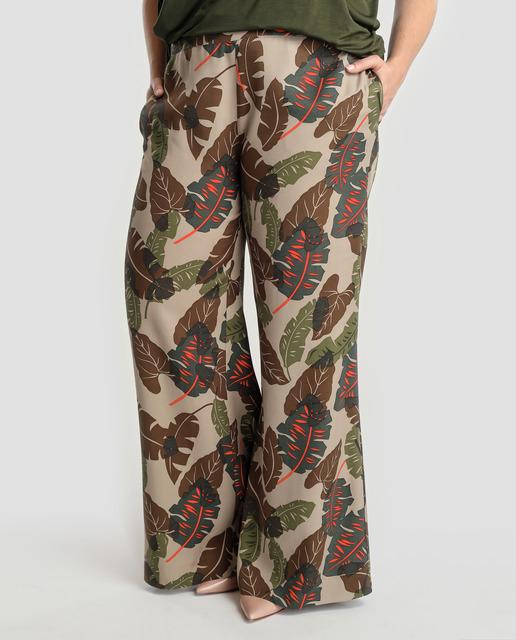 Todo sobre los pantalones plus size - pantalon estampado