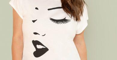 Cómo vestir camisetas de tallas grandes - camisetas estampadas