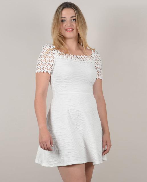 Vestidos tallas grandes - vestido encaje blanco