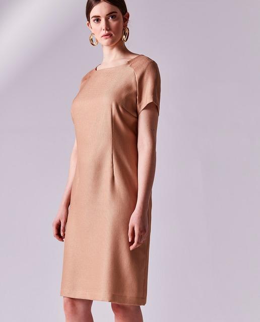 Vestidos tallas grandes - vestido en color crema