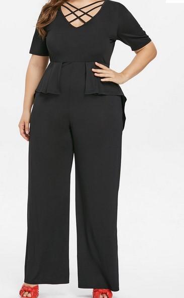 Moda en tallas grandes 2013 las gorditas también pueden usar peplum - peplum negro