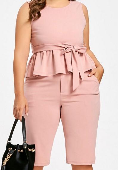 Moda en tallas grandes 2013 las gorditas también pueden usar peplum - peplum tonos rosa tallas grandes