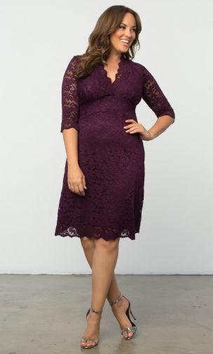 Descubre la moda talla grande de Kiyonna elegante y hermosa -vestido encaje tallas grandes