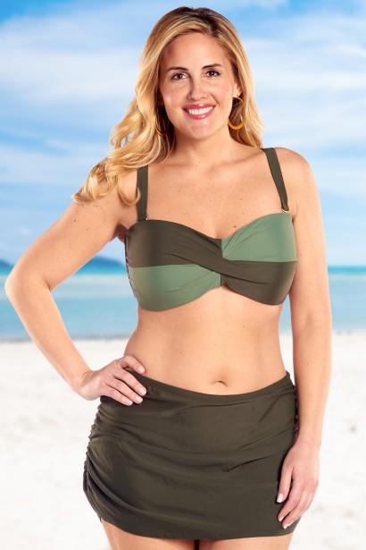 bikini verde tallas grandes