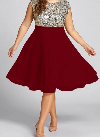 Trucos de moda para gorditas cómo usar falda de cintura alta - falda roja