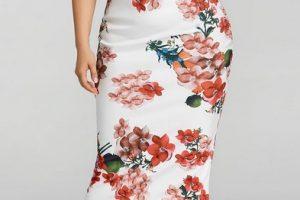 Vestidos baratos para verano - vestido de flores blanco