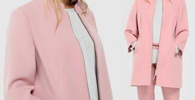 Haciendo fondo de armario con tallas grandes - abrigos color rosa tallas grandes