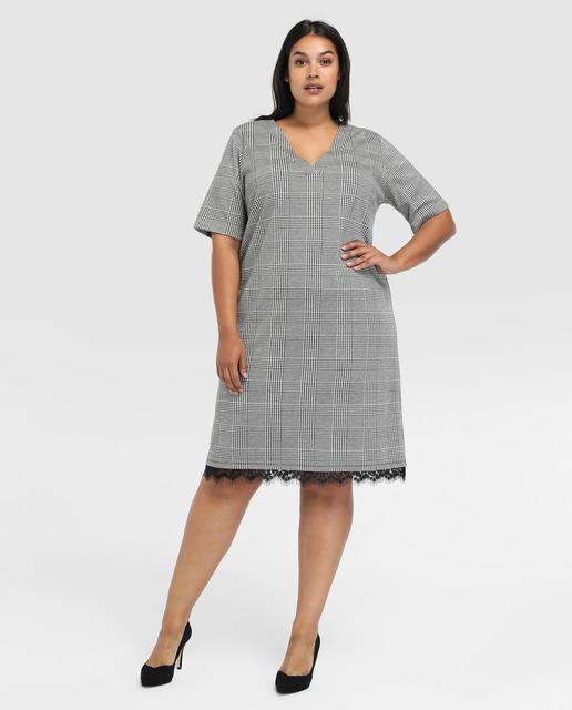 vestidos grises - Haciendo fondo de armario con tallas grandes