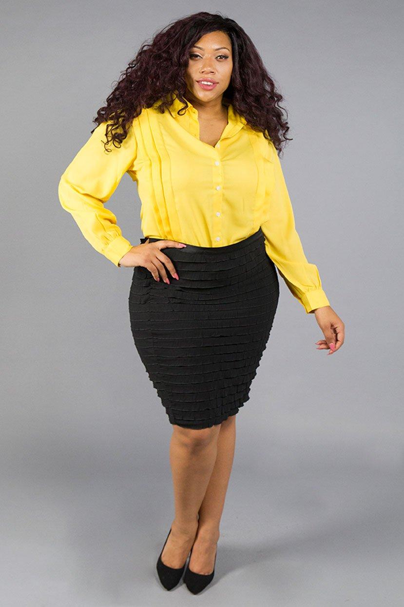 blusa colorida talla grande