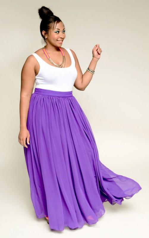 falda colorida talla grande