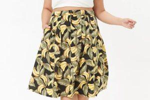 falda estampada talla grande