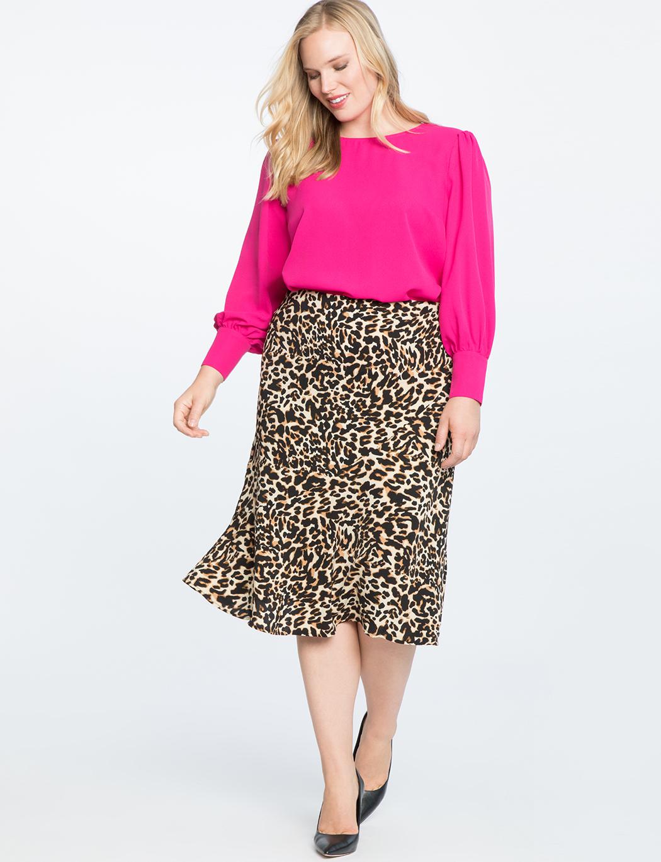 falda midi talla grande