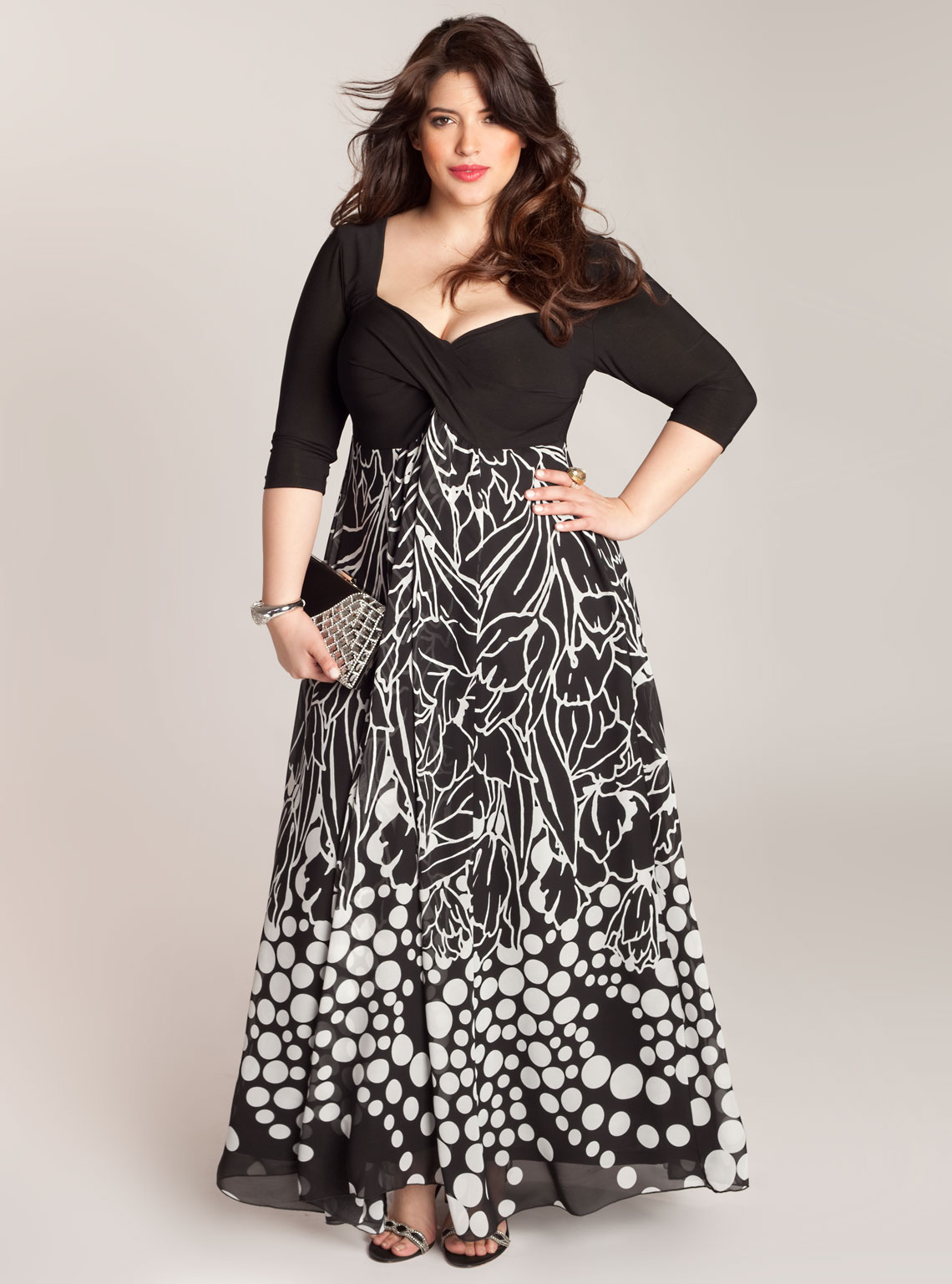 maxi vestido accesorio talla grande