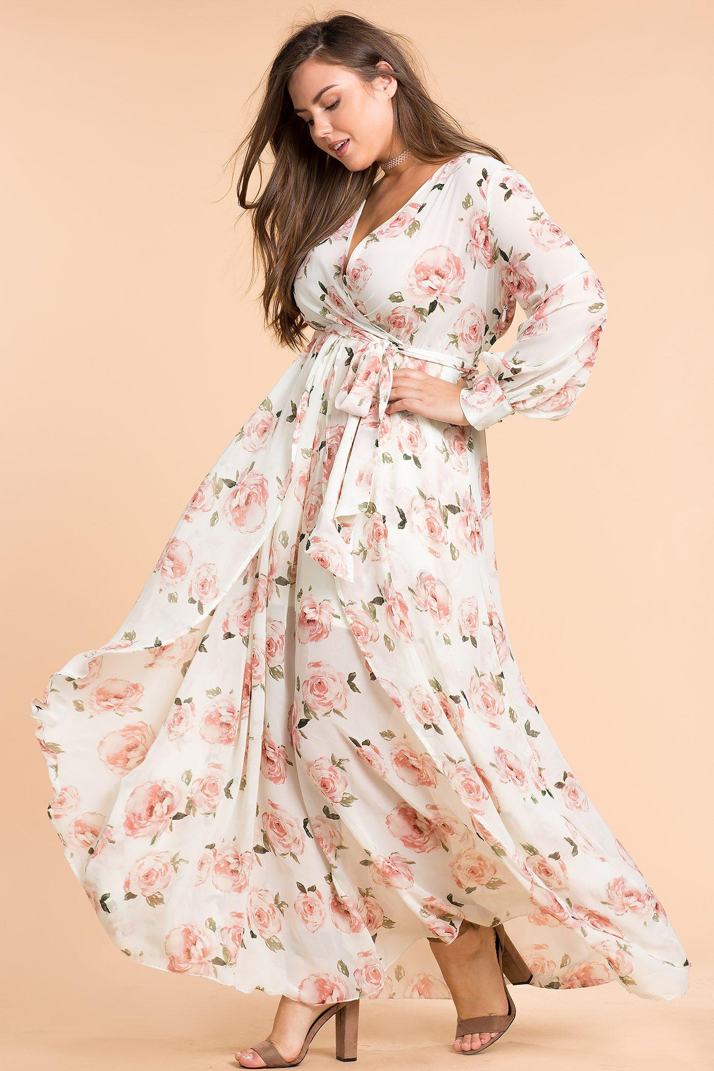 maxi vestido elegante talla grande