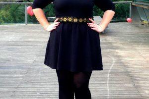 vestir fajin talla grande