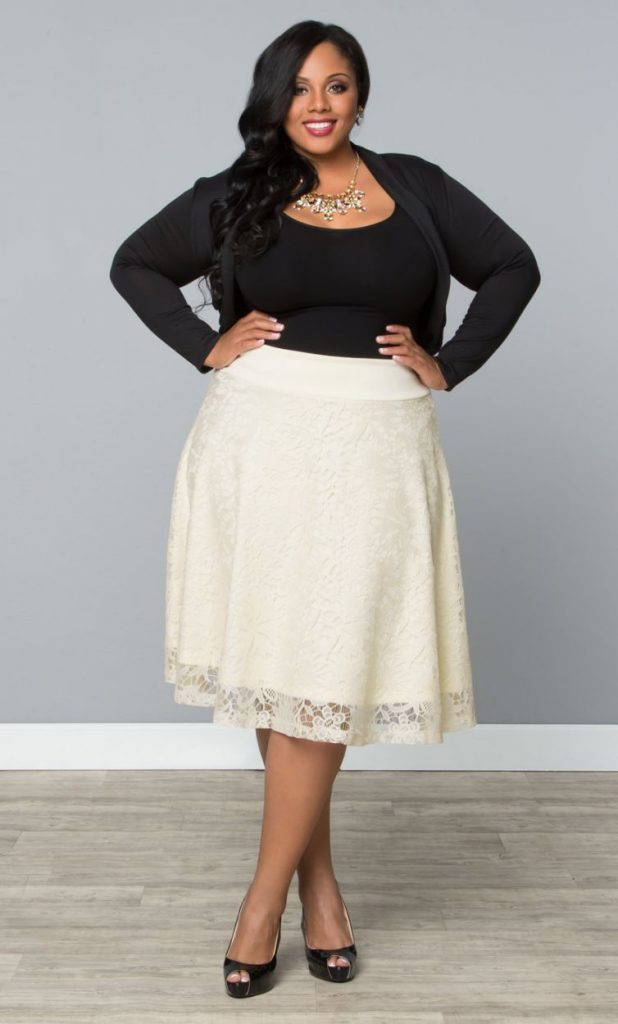escoger falda corta larga talla grande