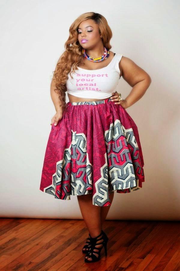 falda media talla grande