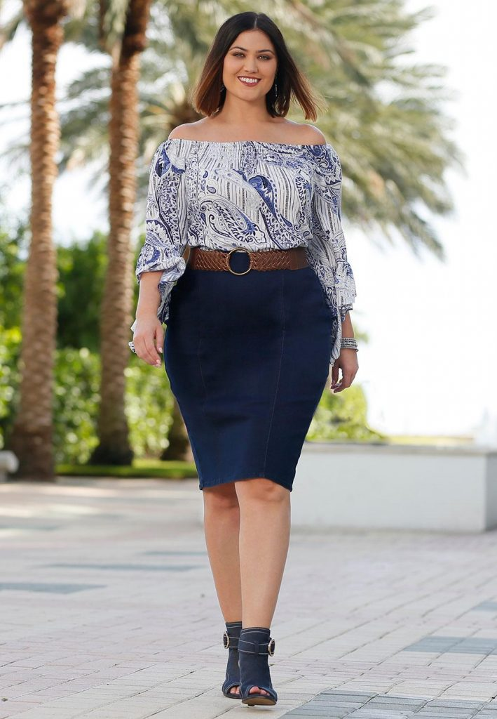 Escoger falda talla grande