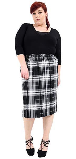 Falda midi de cuadros
