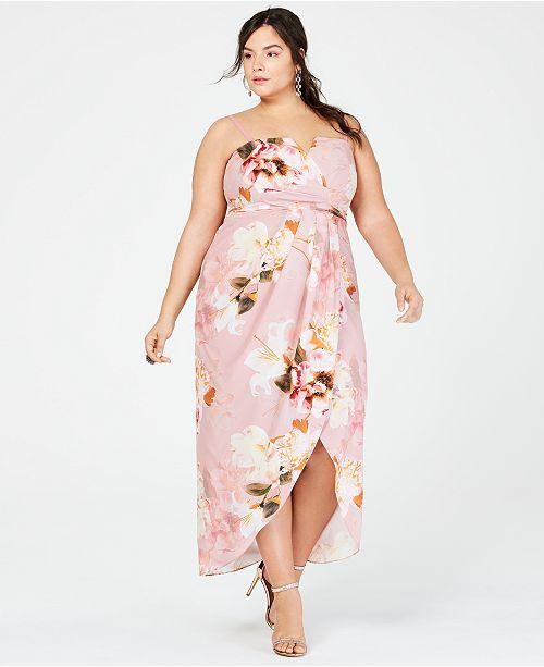 Vestido con flores talla grande nochevieja