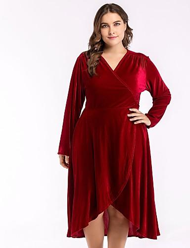 Vestido de terciopelo talla grande nochevieja