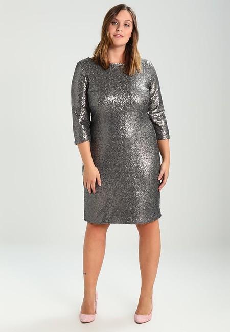 Vestido metalizado talla grande nochevieja