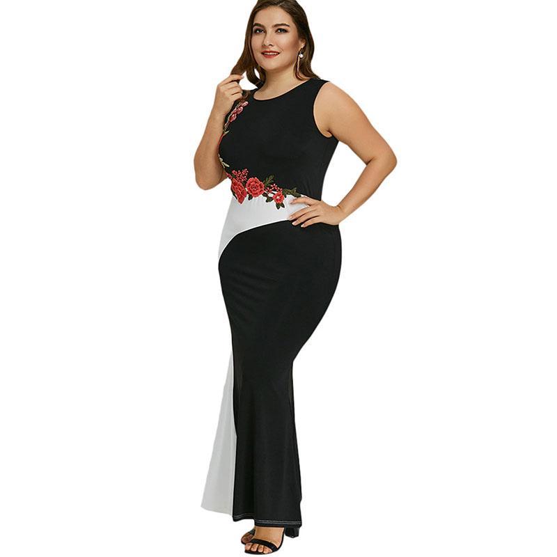Vestido chino talla grande
