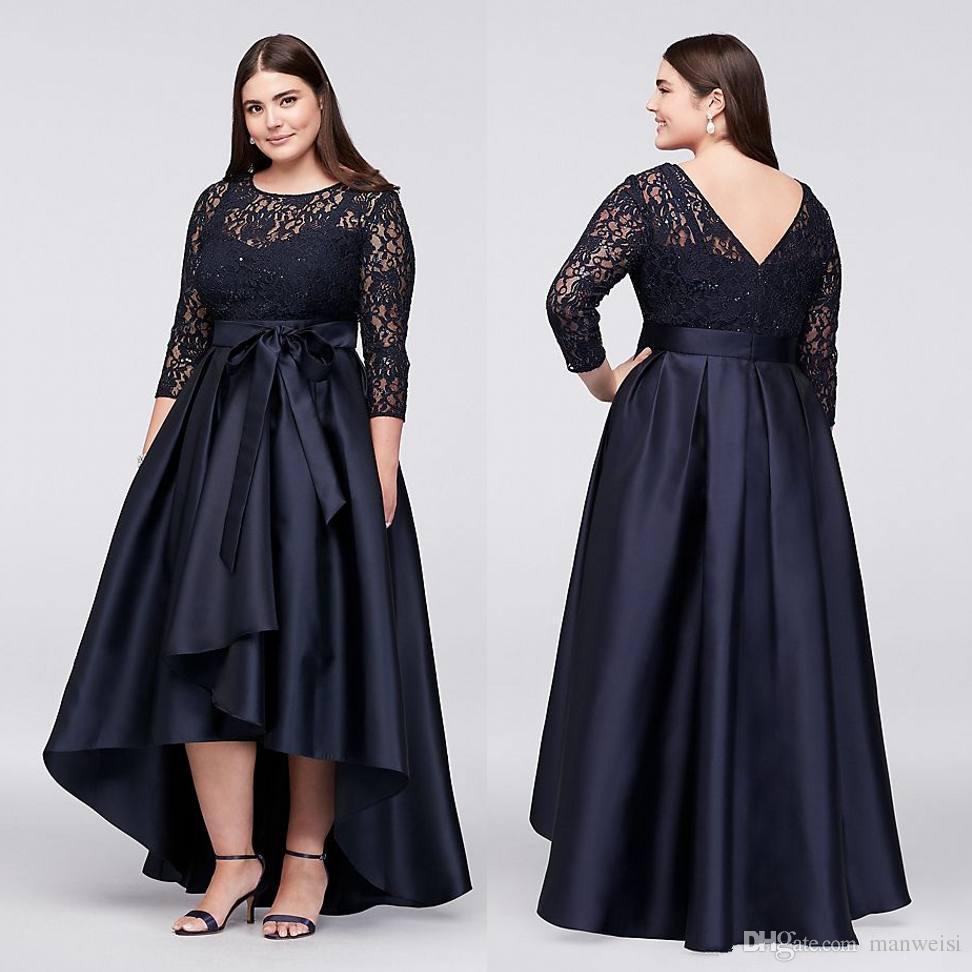 Vestido negro formal talla grande
