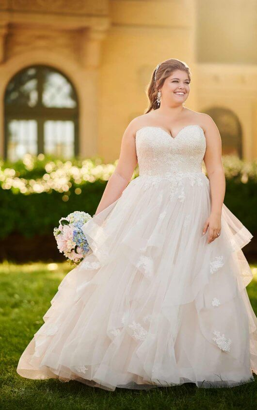 Vestido novia plus size