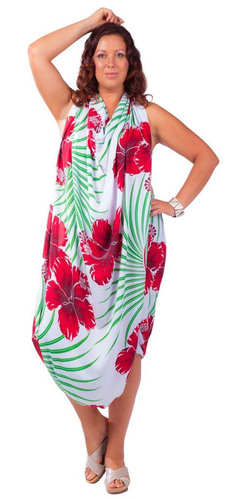 Vestido talla plus hawaiano