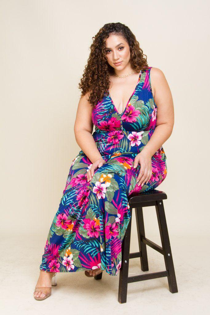 Vestidos hawaianos chica plus