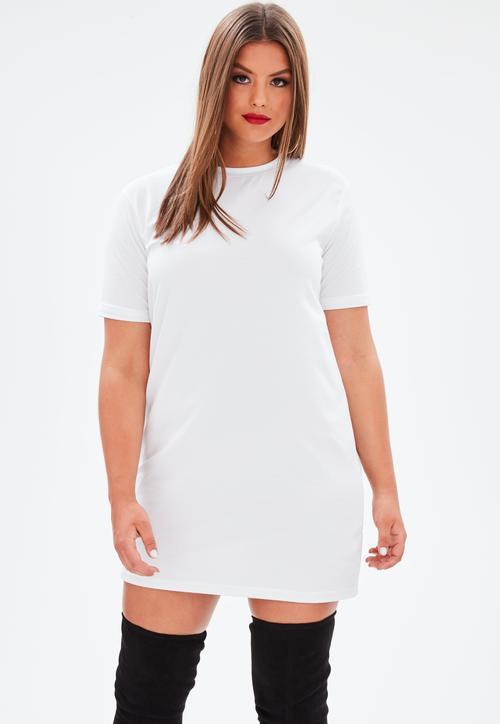 vestido corto blanco talla grande