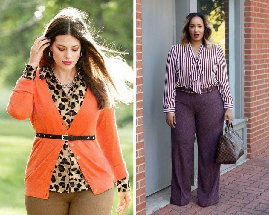 mujer talla grande estilo oficina blazer