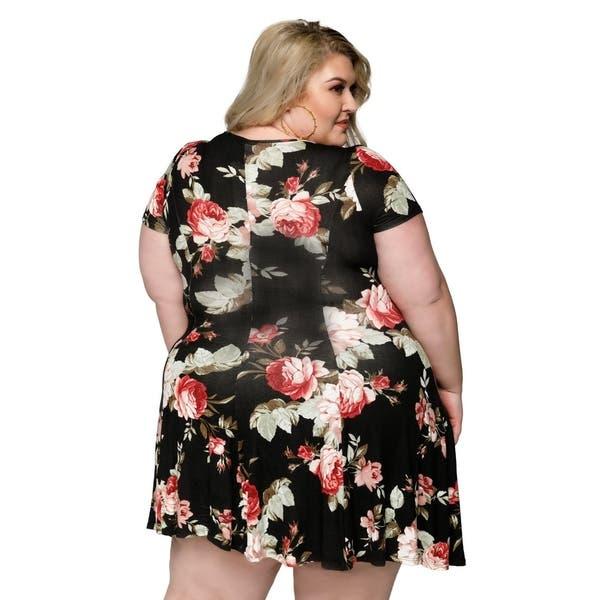 Vestidos cortos casuales talla grande