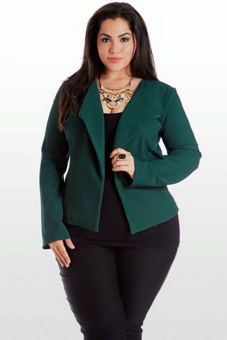 mujer chaqueta talla grande oficina