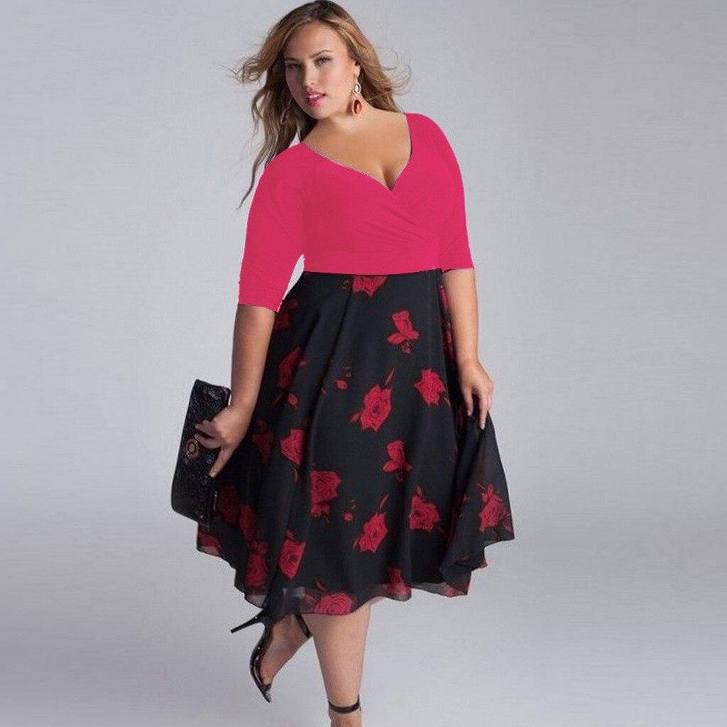 mujer vestido talla grande