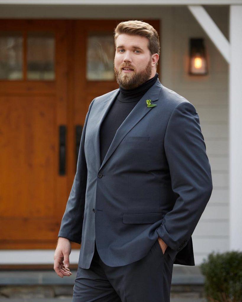 hombre elegancia talla grande