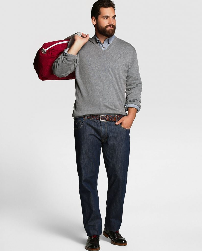 pantalon hombre sobrepeso elegancia