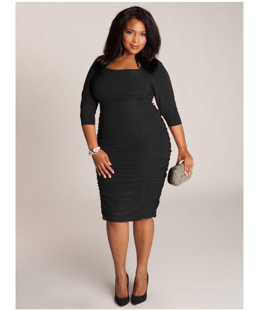 vestido negro navidad chica curvy