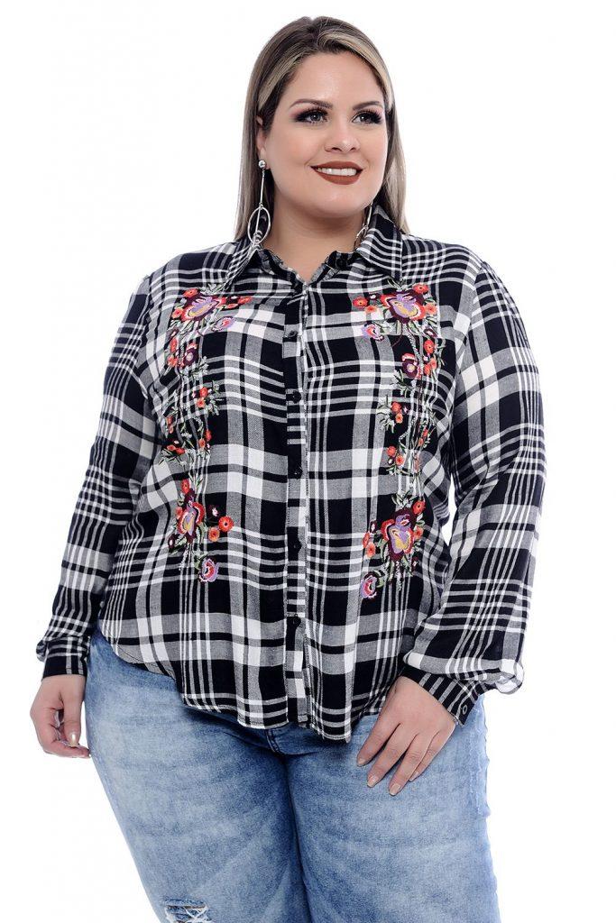 camisa mujer talla plus
