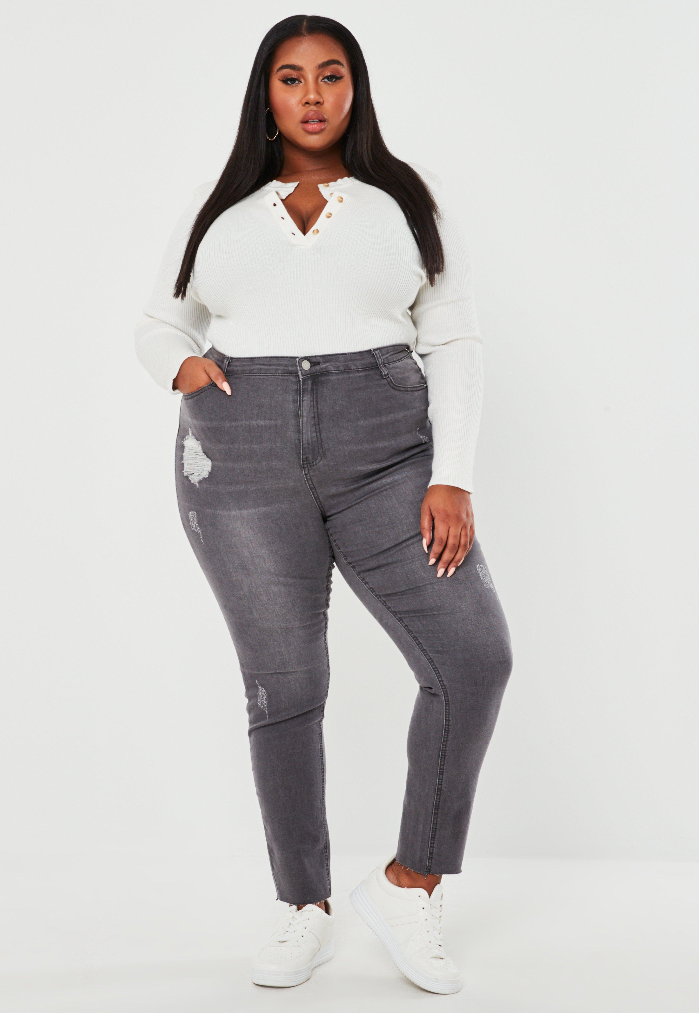 jeans cintura alta talla plus