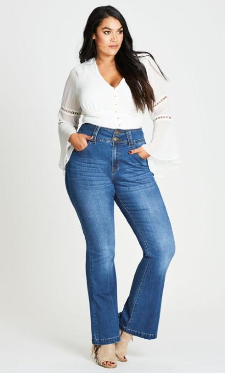 jeans mujer talla plus