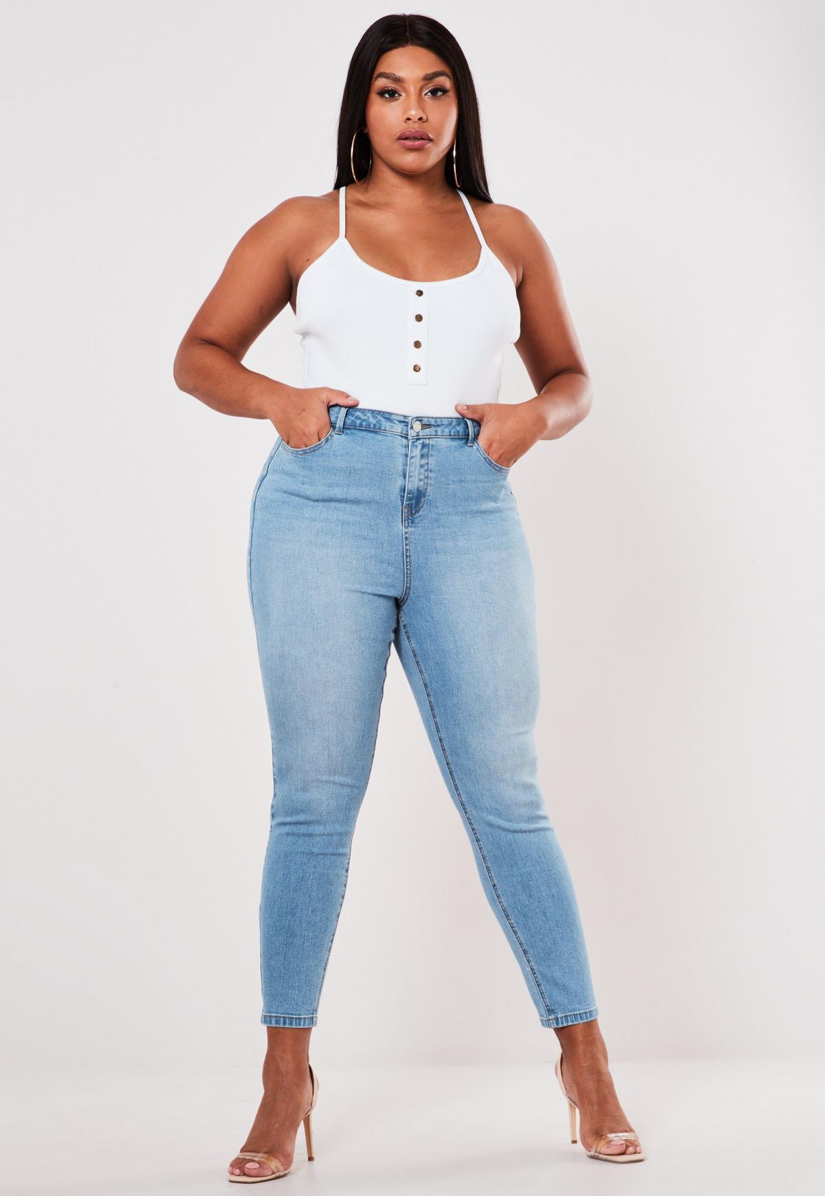 tobillero jeans talla plus mujer