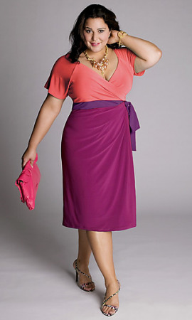 combinacion colores vestido talla plus