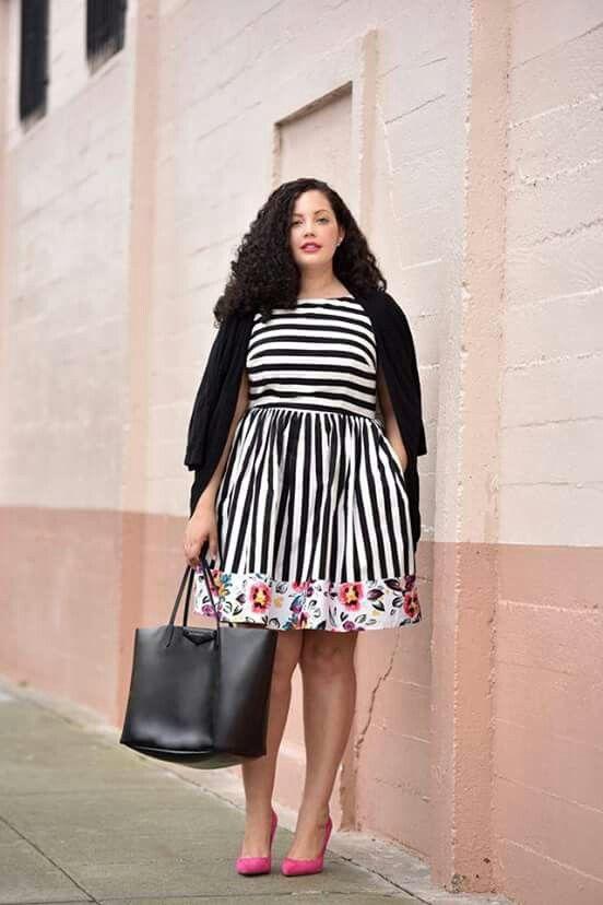 vestido combinacion talla grande