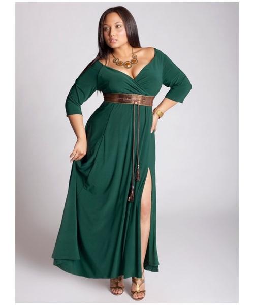 vestido verde talla plus