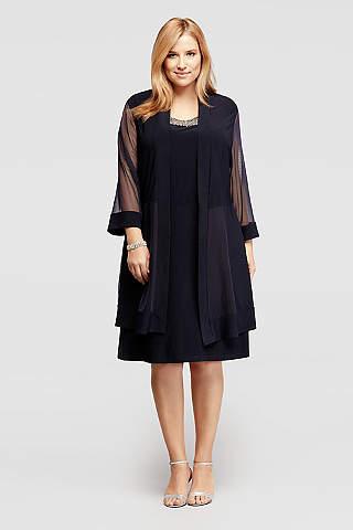 saco sobre vestido elegancia negro